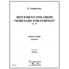 "Movement one from ""Serenade for Strings"""